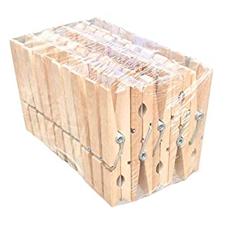Wooden Clothes Pegs–Long, 8cm–Pack of 50