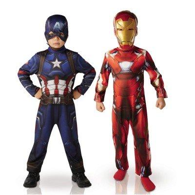 Iron Anzug Kostüm Man (Iron Man und Captain America Kostüme für Kinder 110/116 (5-6)