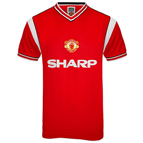 Manchester United FC Official Gift Mens 1985 Retro Home Kit Shirt XXL