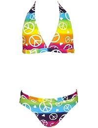 Landora® farbenfroher Mädchen Neckholder Bikini - Oeko-Tex® Standard 100