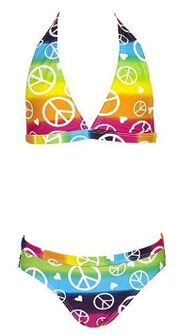 Landora® Mädchen Neckholder Bikini mehrfarbig -- Oeko-Tex® Standard 100 in Größe 152