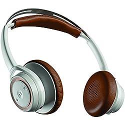 Plantronics 948712 - Auriculares de diadema abiertos (Bluetooth, biaural, micrófono) color blanco