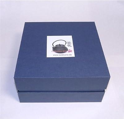 teeblume - Théière en font ensemble Kambin 0,4 l, noire, coffret-cadeau