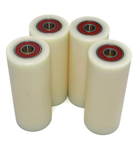 4Stück Nylon Polyamid Rollen, 40mm, Durchmesser 100mm, 10mm, gerade mit der (40–100–10