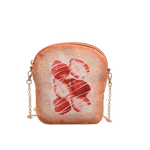 Damen Umhängetasche Shoulder Bag Handtasche Schultertasche Satchel Schulter handbag Rucksack,French Toast Bread Print Bag Taschen -