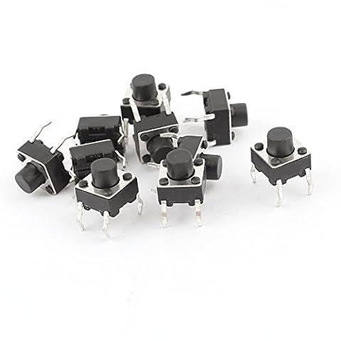 Momentary 4Pin DIP Micro PCB Runder Knopf Taktschalter 6x6x6mm 10 Stück (Runde Dip)