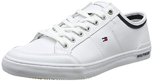 Tommy Hilfiger Herren Core Corporate Leather Sneaker, Weiß (White 100), 46 EU