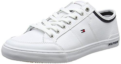Tommy Hilfiger Herren Core Corporate Leather Sneaker, Weiß (White 100), 40 EU