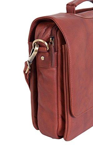 Visconti - Sac Attaché Case Ordinateur Portable Cuir Noir / Marron Alfie Epaule Moyen 659 Braun