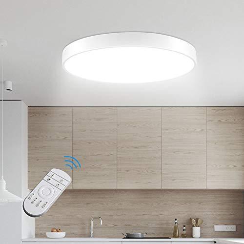 Sararoom LED Deckenlampe, Modern LED Deckenleuchte für Badezimmer, Schlafzimmer, Küche, Balkon, Korridor, Büro, Wohnzimmer, 36W, 2100LM, Ø50cm, Dimmbar 2800K-6500K [Energieklasse A+]