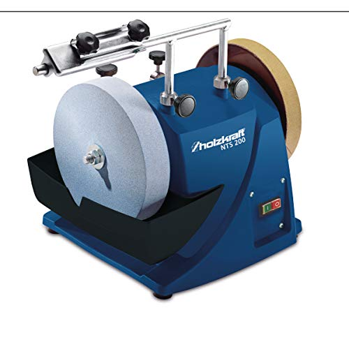 Stürmer Holzkraft 5750200 Holzkraft Nass-Schleifsystem NTS 200 (für Werkzeuge, Messer, Metall) Induktions-Motor, Edelkorund-Schleifstein-5750200