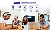 Over Ear Bluetooth Wireless Headphones - August EP650 with Android/iOS App for Custom Sound Control - Enjoy Bass Rich Sound and Optimum Comfort - Bluetooth v4.2, NFC and aptX LL Low Latency - [Blue]