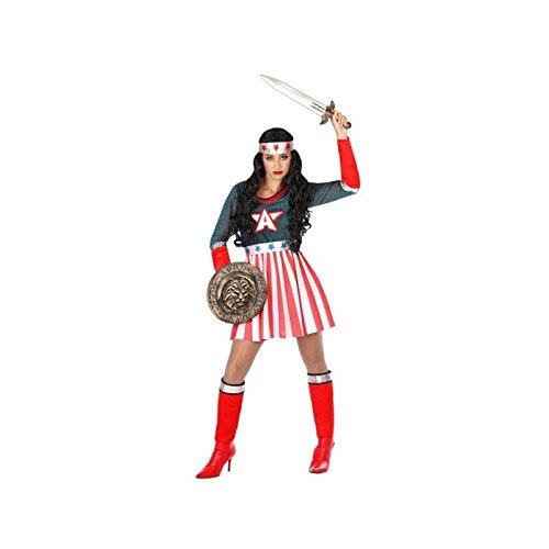 Atosa-53968 Atosa-53968-Costume-Déguisement Héro Comic Adulte, Femme, 53968, Rouge, XL