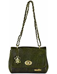 Vestta Genuine Leather Rustic Green Colour Sling Bag For Woman