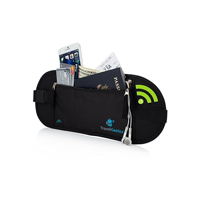 Pochette Sécurisée de Voyage Super Deluxe Avec Technoloque RFID pour protegé et cacher tous vos biens