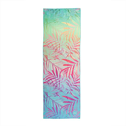 Bodhi Grip² Yoga Towel Art Collection mit Design-Print Jungle Fever, rutschfest, Yogatuch mit Noppen, Mikrofaser, ideal für Hot Yoga