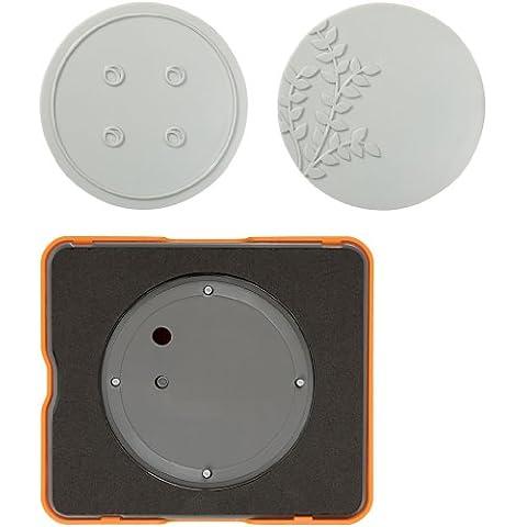 Fuse© - Set per la creazione di accessori design in cartoncino, 30 x 30 cm, rotondo - Fiskars Goffratura Piastre