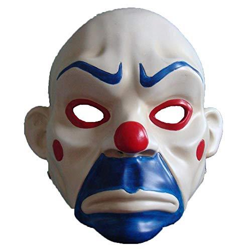 LXIANGP Halloween-Horror-Klassiker Maske Räuber Echte Menschen können Clown Dark Knight cos Tragen