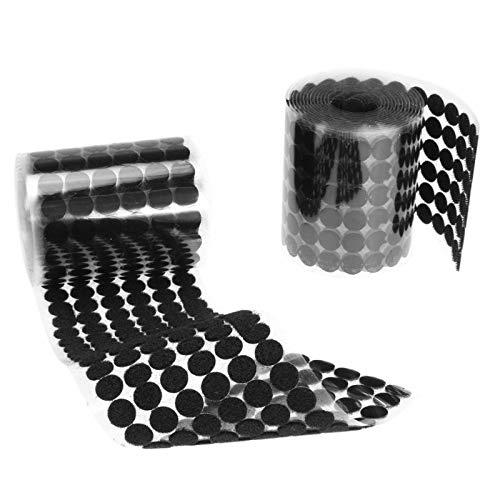 Tisch und Stuhl Fuß Pad 1000 Paare doppelseitige Kleberunde Runde Band Haken Schlaufen Nylon Aufkleber Scheiben Dot Tisch Stuhl Füße Schutz Pad 15mm