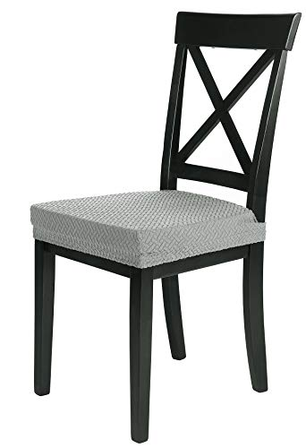 SCHEFFLER-Home Luna 2 Fundas para Asiento de sillas, Estirable Cubiertas, Chenilla Funda...