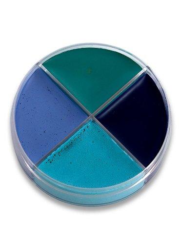 Ocean blaue Creme Schminke MakeUp Schminkdose Halloween Karneval ()