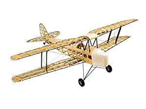 Jamara- 006149-Tiger Moth 1400 mm CNC Lasercut Kit de construcción Avion RC, Color Madera (6149)