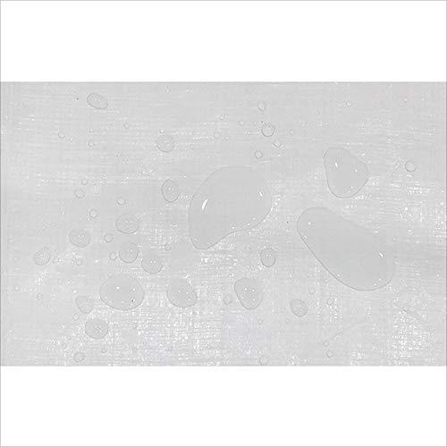 DENGDAI Bâche imperméable à l'eau, Couverture Solaire imperméable de Jardin extérieur, Blanc, Une variété de Tailles au Choix,5 * 6M