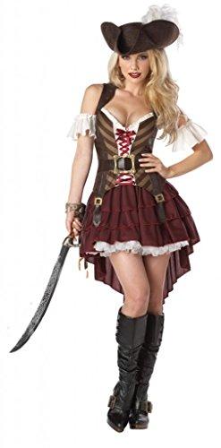 Sexy Mantel- und-Degen Pirat Kostüm Größen 6–14[2x l: (Und Kostüme Degen Mantel Pirat)