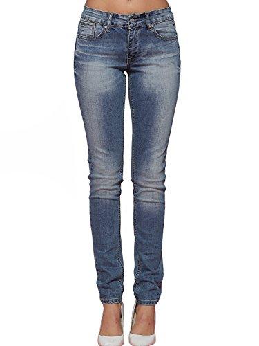 Alice & Elmer Damen Stretch Normaler Bund Slim Skinny Jeans Blau-61001 27W x 30L (Taille Jeans Niedrige)