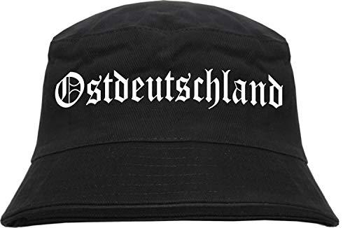 HB_Druck HB_Druck Ostdeutschland Fischerhut - Bucket Hat S/M Schwarz