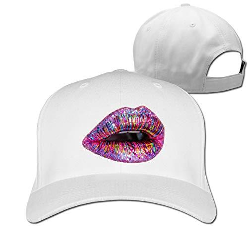 Osmykqe Glitter Lips Casual Cotton Baseball Cap Multiple Sport Caps Hat Birthday Gift - Spf 15 Lip Protection