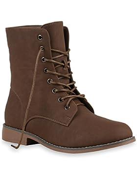 Damen Schnürstiefeletten   Gefütterte Worker Boots   Stiefeletten Wildleder-Optik  Halbhohe Stiefel Booties  ...