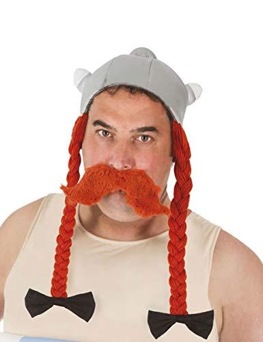 Asterix Und Obelix Kostüm Für Erwachsene - Obelix-Helm mit Zöpfen Asterix und Obelix-Lizenz