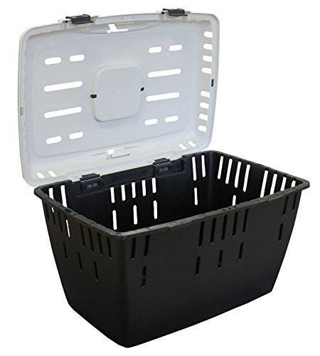 PETGARD Hundetransportbox Katzentransportbox Kleintiertransportbox DAKOTA anthrazit-weiss