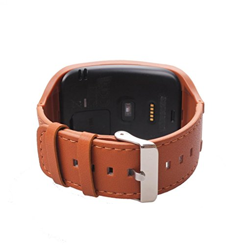 Für Samsung Watch Strap Clode® Echt Leder Uhrenband Watch Strap Uhrenarmband Uhren Armband für Samsung Gear S SM-R750 (Braun)