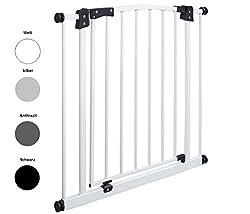 Original IMPAG® Treppen und Tür-Schutzgitter Swing | 62-212 cm| Automatik-Tür | 90° Feststell-Funktion | Einhandbedienung | Öffnet in beide Richtungen |