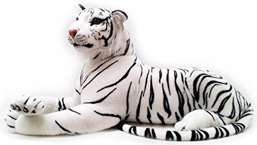 Realista realista peluche peluche blanco tigre juguete suave 100 cm 40