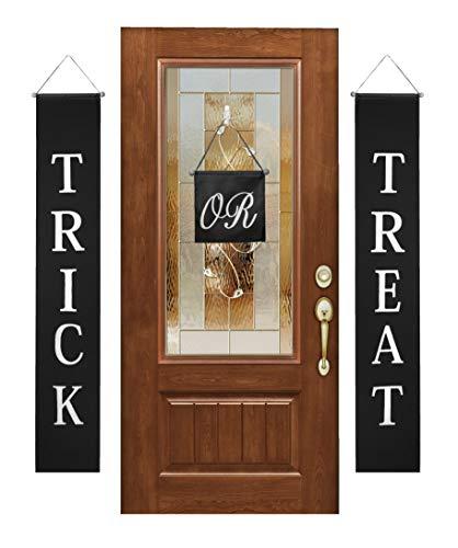 Banner Halloween Dekorationen 3-teiliges Set für Innen und Außen Tür-Hängedekoration, niedliches Zuhause oder Büro, einfach aufzuhängen, wiederverwendbares Design ()