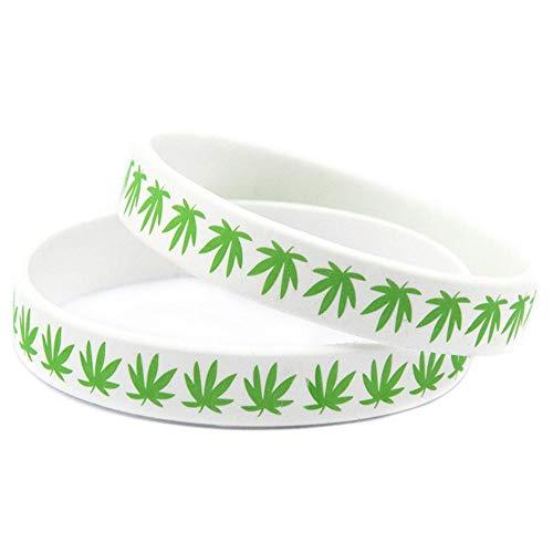 North King Silikon-Armbänder mit Logo der Jamaika Unkraut Kautschuk Armbänder für Kinder-Motivation-Set (Für Armband Unkraut)