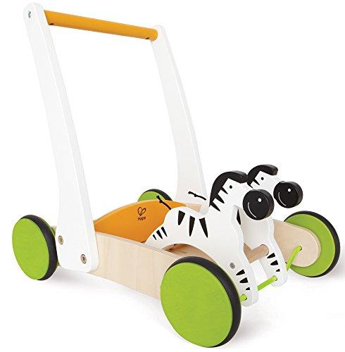 Hape-Wooden Galloping Zebra Cart