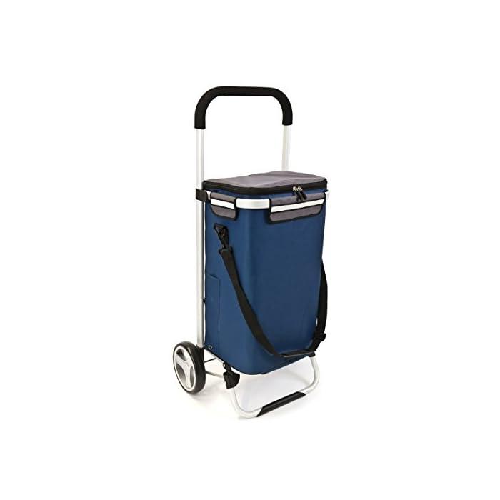 bremermann® Einkaufstrolley, Handwagen, Einkaufswagen mit Abnehmbarer Tasche 1