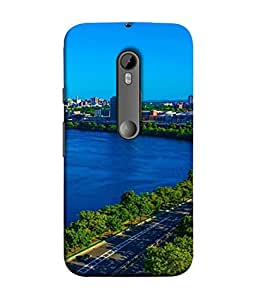 PrintVisa Designer Back Case Cover for Motorola Moto G3 :: Motorola Moto G (3rd Gen) :: Motorola Moto G3 Dual SIM (City By The Cool Sea)