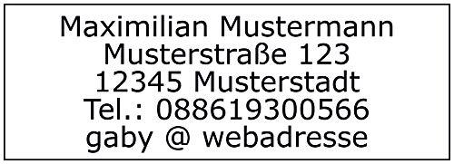 Adressaufkleber - Adressetiketten - 512 Stück, ca. 48 x 17 mm, 1-5 Zeilen beschriftbar