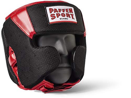 Paffen Sport Star MESH Kopfschutz für das Sparring; schwarz/rot; GR: S/M