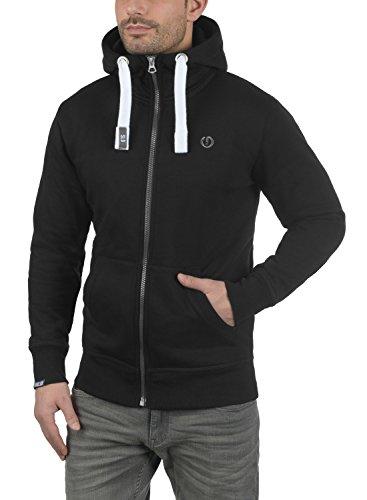 !Solid Benn High-Neck Herren Sweatjacke Kapuzenjacke Hoodie mit Kapuze Reißverschluss und Fleece-Innenseite, Größe:S, Farbe:Black (9000) - 2