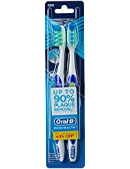Oral-B CrossAction Pro-Health 7 Benefits Toothbrush - 2 Units, Medium (Colors May Vary)