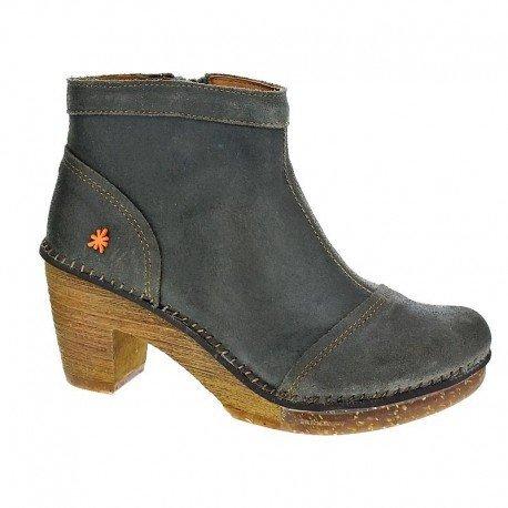 Art Amsterdam 0316-Scarpe da donna Top Trends, marrone, pelle (Wax), absatzhöhe: 50mm, grigio (Grau), 38 EU
