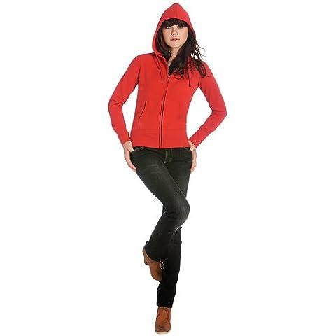 C B New & Zoodie tasca con cerniera intera, da donna, con cappuccio, taglie dalla S alla XXL