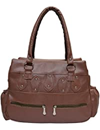 Angel & Rayon Stylish PU Leather Women And Girls Handbag (Brown) (ARBASAIN182)