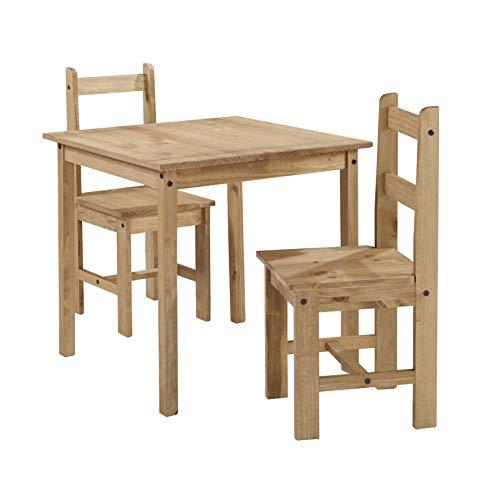 Mercers Furniture Corona Rio Table à Manger et 2 chaises en pin